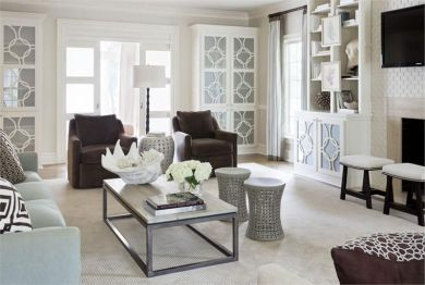 Elegant Contemporary Living Room 11