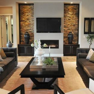 Elegant Contemporary Living Room 56