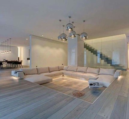 Elegant Contemporary Living Room 63