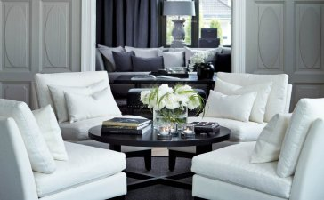 Elegant Contemporary Living Room 64