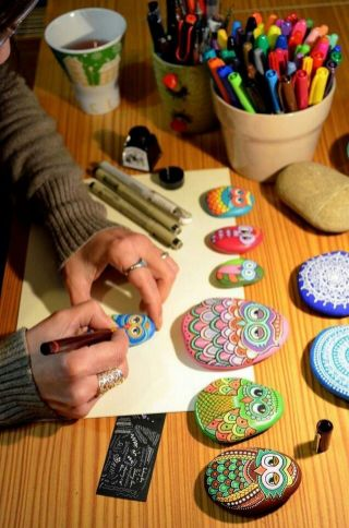 Painted Rocks With Inspirational Picture And Words 1