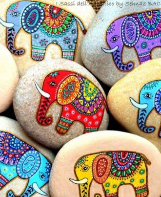 Painted Rocks With Inspirational Picture And Words 100
