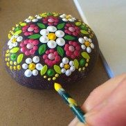Painted Rocks With Inspirational Picture And Words 104