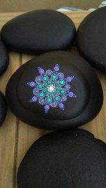 Painted Rocks With Inspirational Picture And Words 107