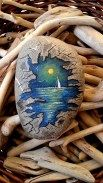 Painted Rocks With Inspirational Picture And Words 112