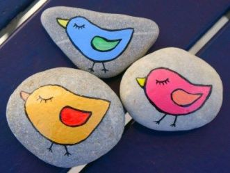 Painted Rocks With Inspirational Picture And Words 113