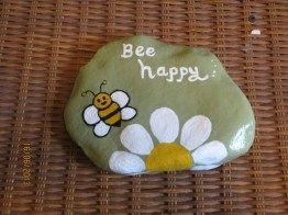 Painted Rocks With Inspirational Picture And Words 127