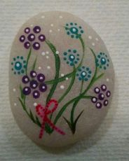 Painted Rocks With Inspirational Picture And Words 128