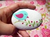 Painted Rocks With Inspirational Picture And Words 132