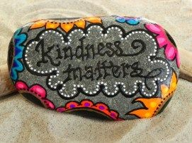 Painted Rocks With Inspirational Picture And Words 25