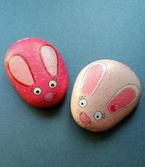 Painted Rocks With Inspirational Picture And Words 49