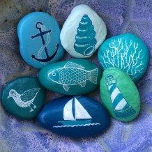 Painted Rocks With Inspirational Picture And Words 52