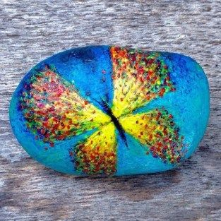 Painted Rocks With Inspirational Picture And Words 54