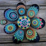 Painted Rocks With Inspirational Picture And Words 63