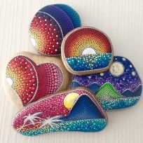 Painted Rocks With Inspirational Picture And Words 79