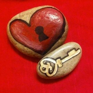 Painted Rocks With Inspirational Picture And Words 86