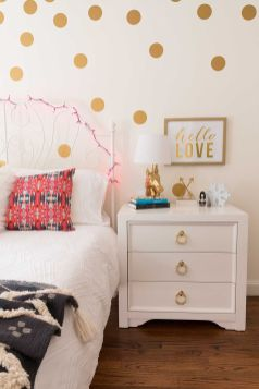 Pink White And Gold Bedroom 104