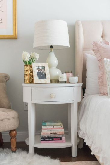 Pink White And Gold Bedroom 110