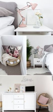 Pink White And Gold Bedroom 16