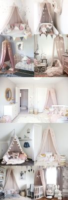 Pink White And Gold Bedroom 20