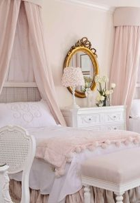 Pink White And Gold Bedroom 27