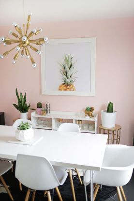 Pink White And Gold Bedroom 42
