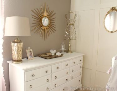 Pink White And Gold Bedroom 49