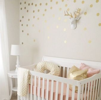 Pink White And Gold Bedroom 54