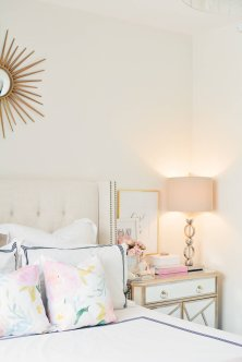 Pink White And Gold Bedroom 56