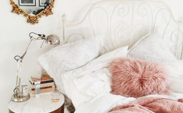 Pink White And Gold Bedroom 6