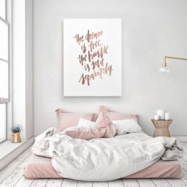 Pink White And Gold Bedroom 69