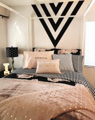 Pink White And Gold Bedroom 70