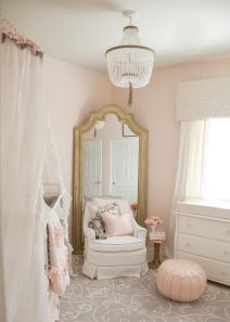 Pink White And Gold Bedroom 8