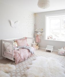 Pink White And Gold Bedroom 81