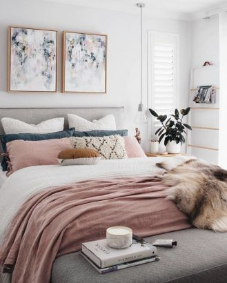 Pink White And Gold Bedroom 83
