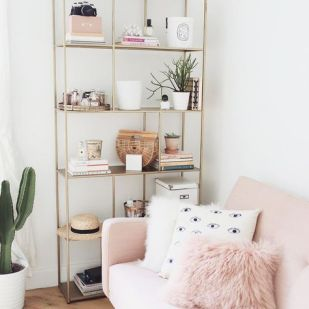 Pink White And Gold Bedroom 90