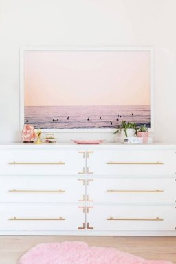 Pink White And Gold Bedroom 91