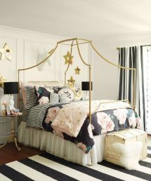 Pink White And Gold Bedroom 96