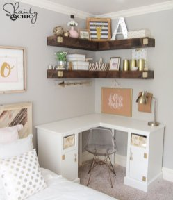 Pink White And Gold Bedroom 97