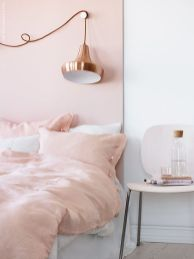 Pink White And Gold Bedroom 98