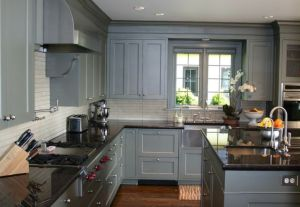 Gray Cabinets Black Countertops 14