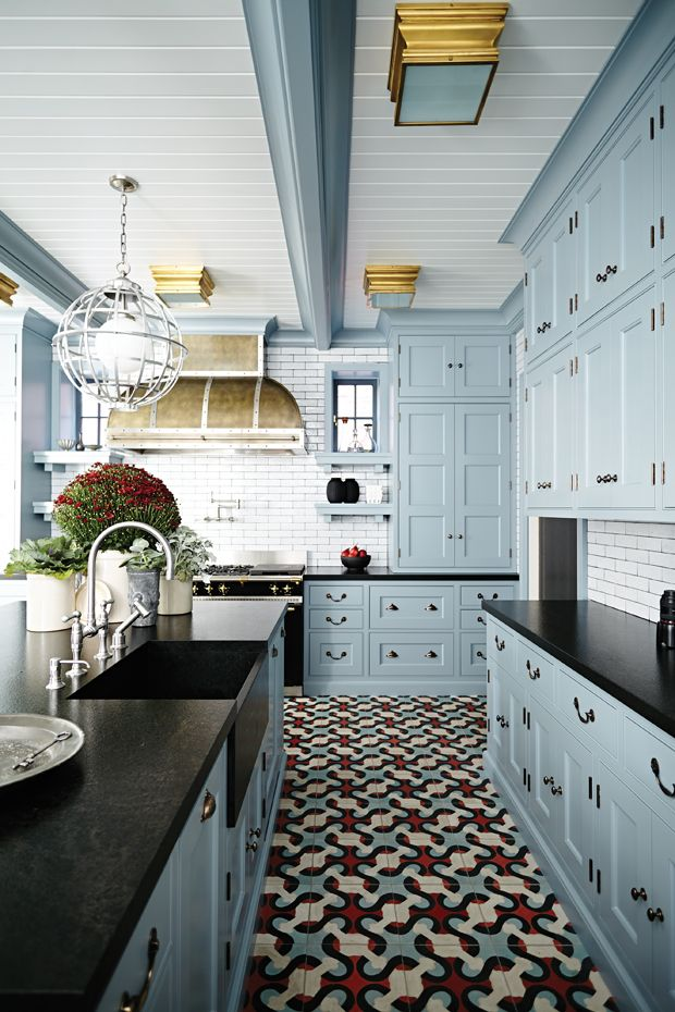 Glamorous Gray Kitchens Decoratoo - Gray cabinets black granite