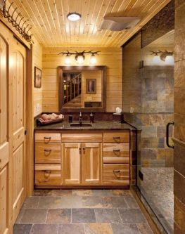 Log Home Bathrooms 1