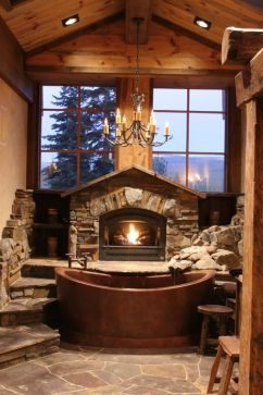 Log Home Bathrooms 12