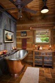Log Home Bathrooms 17