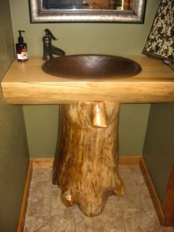Log Home Bathrooms 4