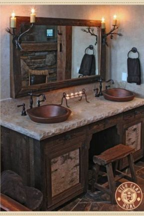 Log Home Bathrooms 5