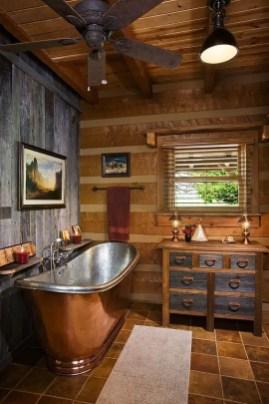Log Home Bathrooms 9