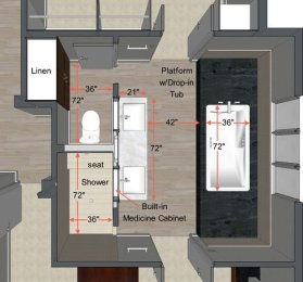 Small Master Bathroom Layout 2