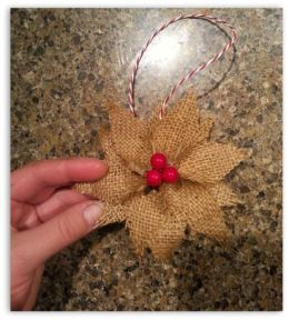 Burlap Christmas Tree Wreath 13